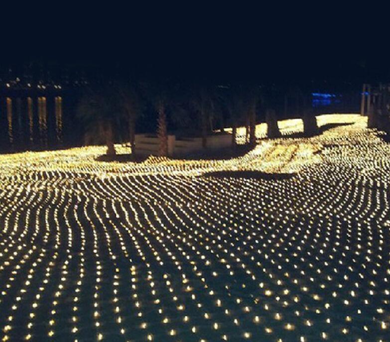 6MX4M красочные 678 LED Web Net Fairy светло-занавес чистые огни рождественские дома садовые лампы
