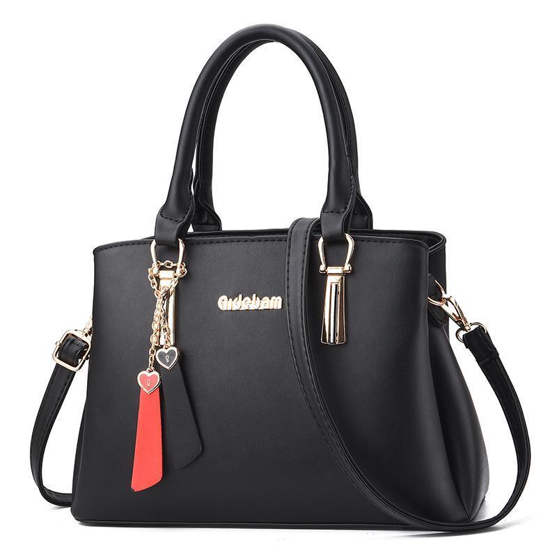 Borsa in pelle per la donna PU 2020 nuovo modo di colore solido nero kaki Lady dolce spalla casuale Tote Bags sacchetto di Crossbody femminili