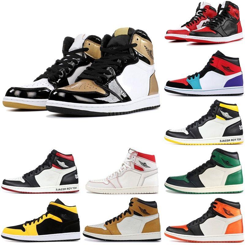 1 разводили схождение OG Mens Basketball обувь данью домой сосновом зеленый обратной новой любви 1S Мужчины Phantom Unc кроссовки 5.5-13