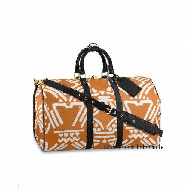 2021 Crafty Herren Duffle Duffle Bag Keepall Blume Reisedesigner Wochenende Taschen Bandoulière Taschen Tasche 55 Gepäck Sporttasche Holdall Bla Bucj