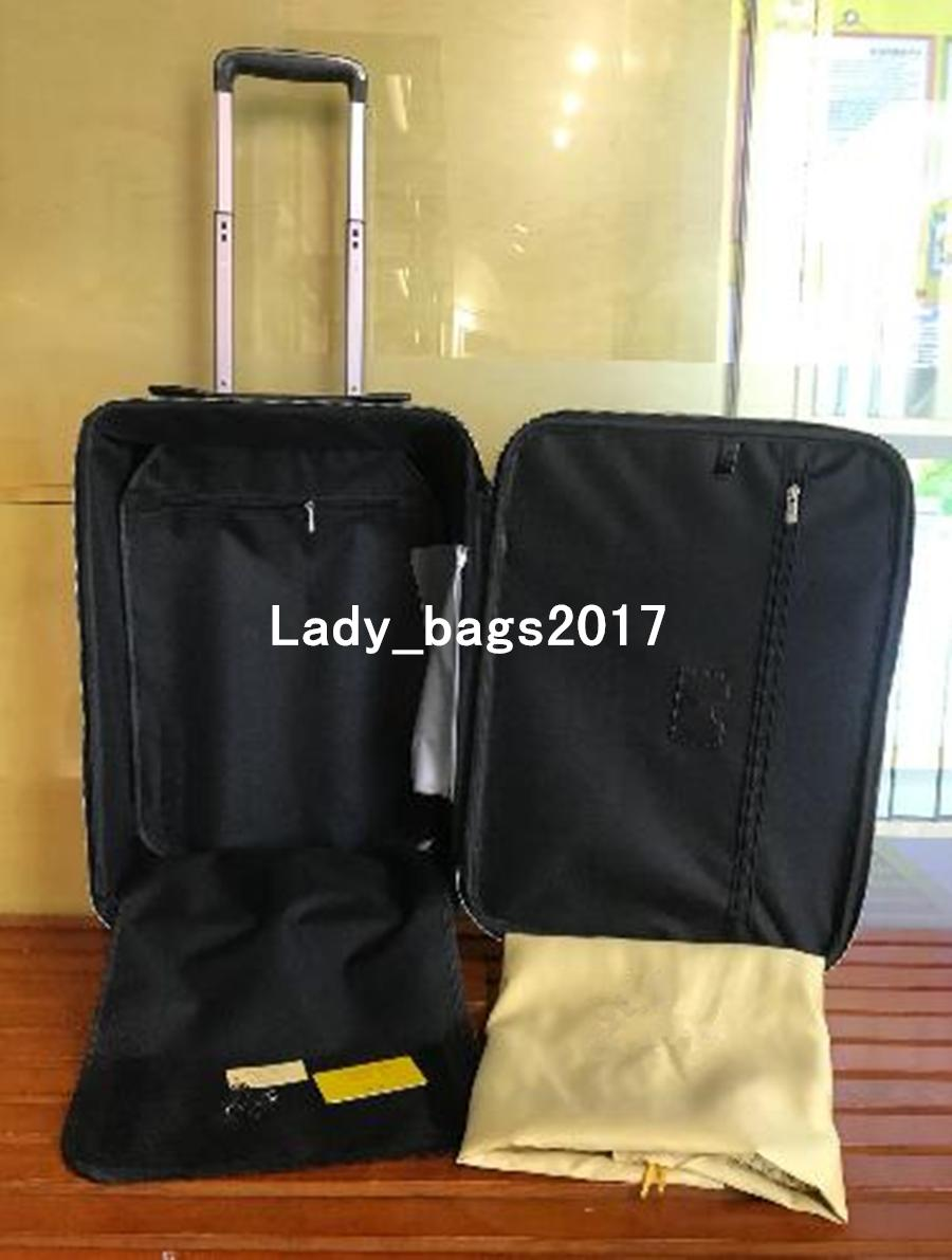 Newset Travel Luggage 20 24 inch Men Women Suitcase Trunk Bag Flowers Letters Purse Rod Box Suitcase Spinner Universal Wheel Duffel