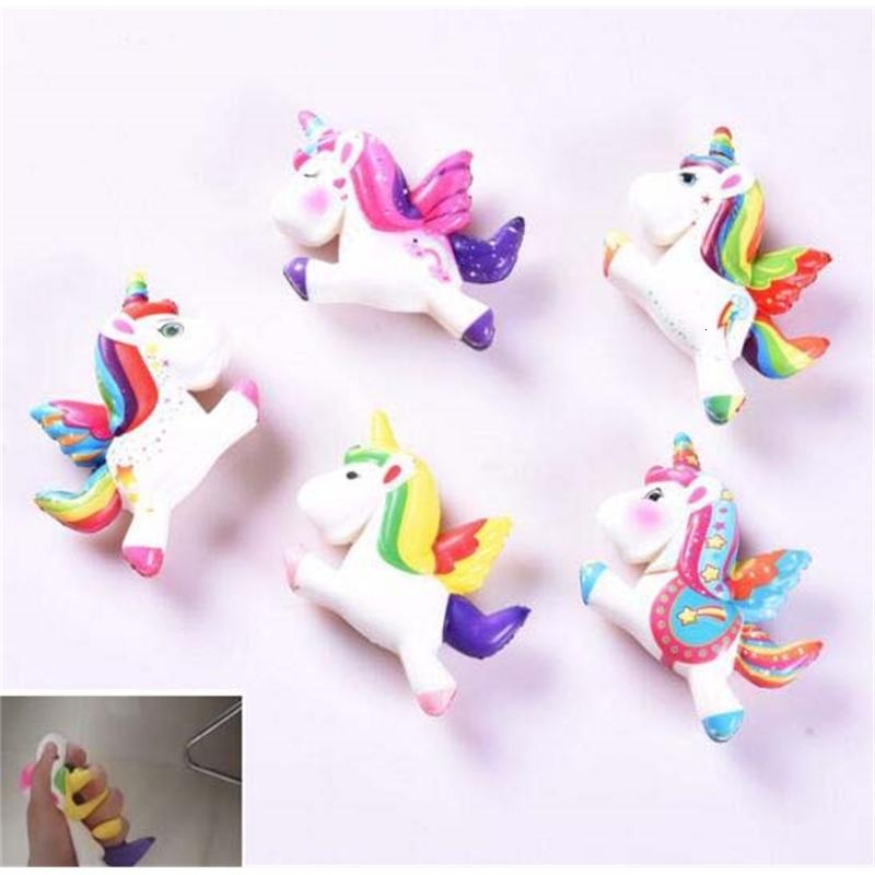5 estilos Super Soft Squishy Slow Rising Unicorn Pony Brinquedos Squeeze Brinquedos De Descompression