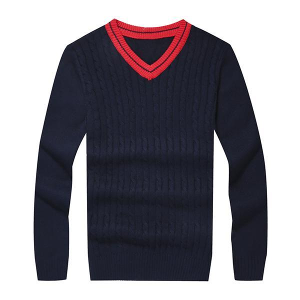 hombres pequeños suéteres caballo con cuello en V jersey de algodón caballo otoño invierno jersey de los puentes hombre tirón homme hiver jersey de punto los hombres