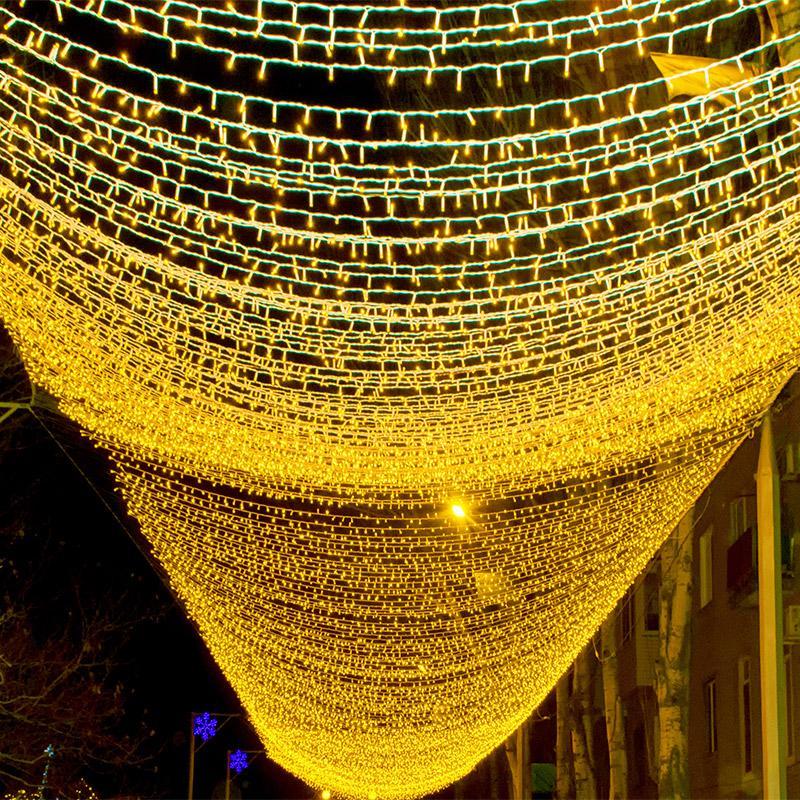 10M 100 LED-String-Girlande Weihnachtsbaum-Fee Lichterkette anschließbaren Wasserdicht Haus-Garten-Party im Freien Feiertags-Dekoration