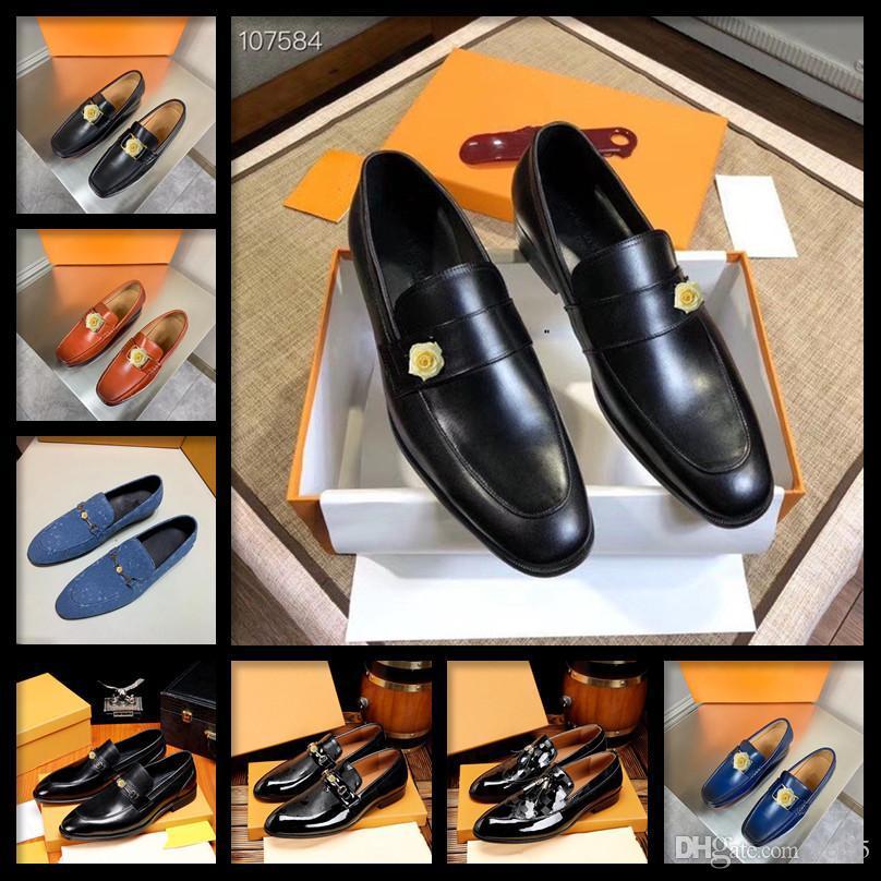 C5 Big Size New Fashion Luxury Uomo Scarpe da sposa in pelle Oxfords a punta Scarpe da uomo Tassel Business Abito formale Dress Shoes Mocassini 11