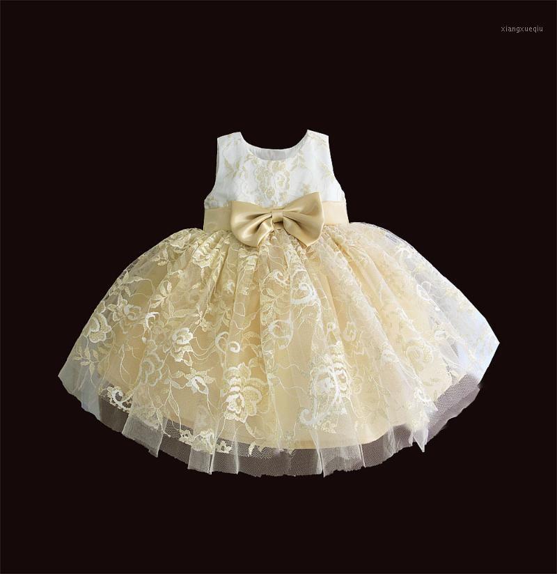 Nuevos vestidos de bebé para niña Vestido de bautizo de verano para niña Bordado de encaje Vestido Vestido Infantil 1 año fiesta de novia vestidos de novia1