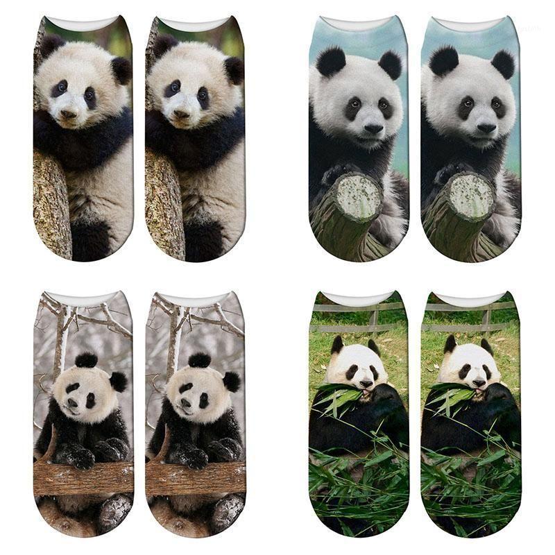 Носки Hosiery 3D Печатная Панда Животные Женщины Детский Гигант Смешные Симпатичные Хлопок Короткие лодыжки Harajuku Cute1