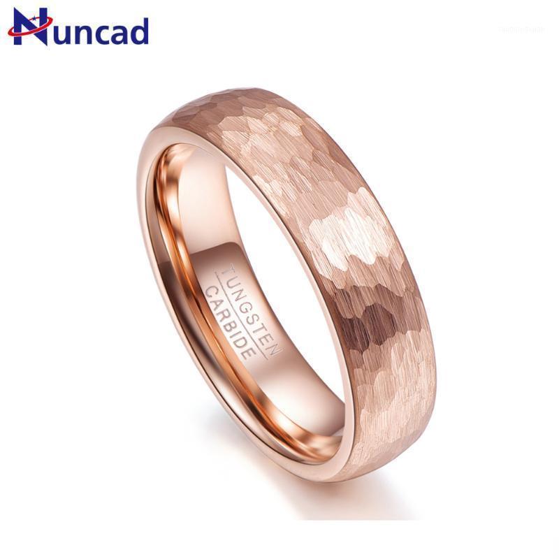 Nuncad mai dissolta mai 6mm larghezza oro rosa oro anello in acciaio anello uomo comfort comfort misura misura 5-10 anelli di nozze coppie gioielli1