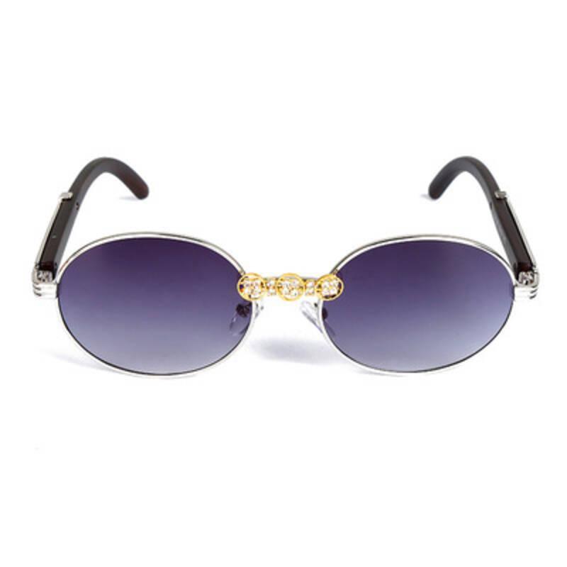 Moda oval metal óculos de sol para mulheres 2021 luxo rhinstone oceano sol óculos feminino moda gradiente tons de óculos homens