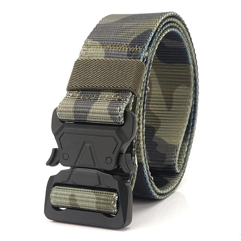 La moda masculina táctico de la correa de nylon de la cintura cinturón de metal resistente ajustable de la hebilla del Ejército Militar correas de los hombres al aire libre de la correa 06 Quick Release Jeans