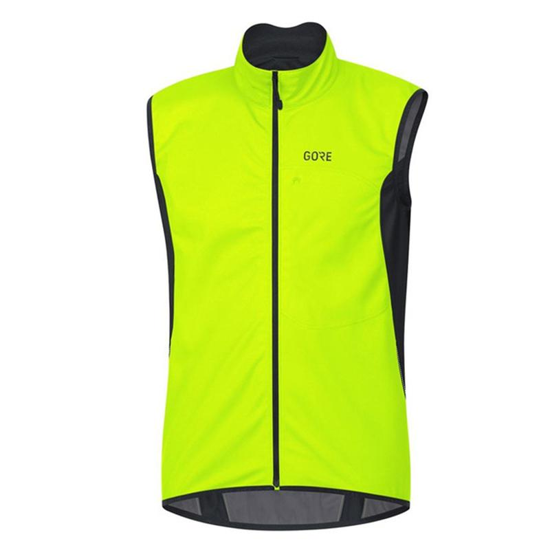 Gore Fluorescente Green Windproof Homens Jersey Ropa Ciclismo Leve Respirável Mesh MSH MTB Ciclismo Vest Bike Casaco