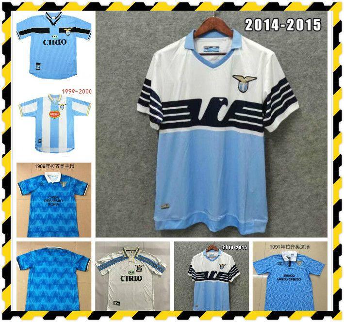 Retro Classic 1989 1990 1991 1992 1999 2000 2000 Lazio Soccer Jerseys Nedved Simeone Salas Gascoignese Casa Away Retro Camicia da calcio
