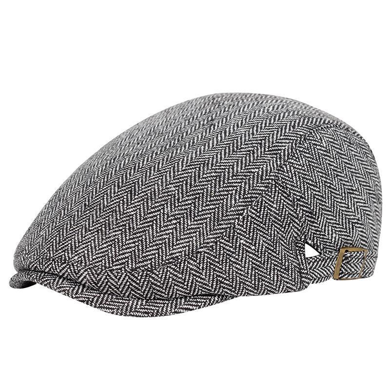 Nuevos Hombres Estilo Británico Bereets Ajustable Pat Fashion Otoño Invierno Cálido Newsboy Hat Gatsby Peaky Blinder Golf Hats Gorras
