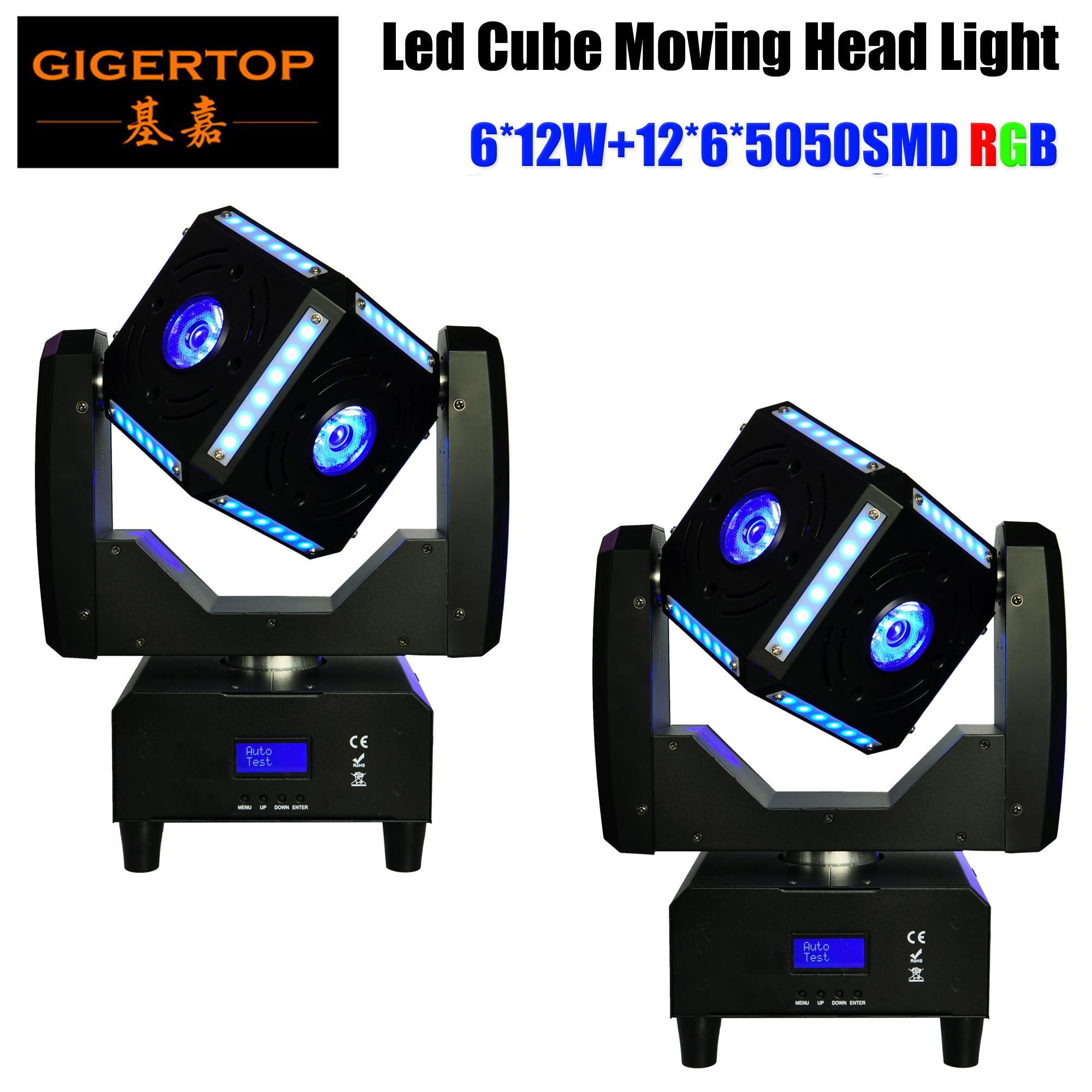 2XLot голодает корабль 6X12W RGBW Quad Color Полоска Cube LED Moving фарах 8 градусов Угол луча Профессиональных сценических шоу оборудования