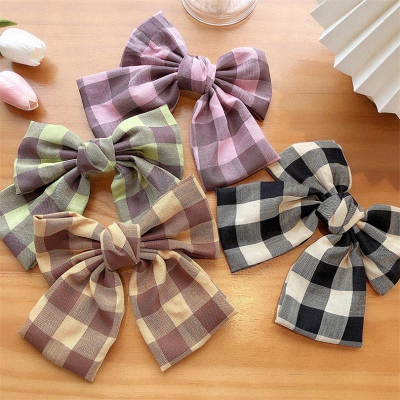 8pcs / lot clipes de cor da manta Big Bow Grampos coreano Hairgrips para meninas de cabelo acessórios de meninas Hairpin curvas MOLA B62o #