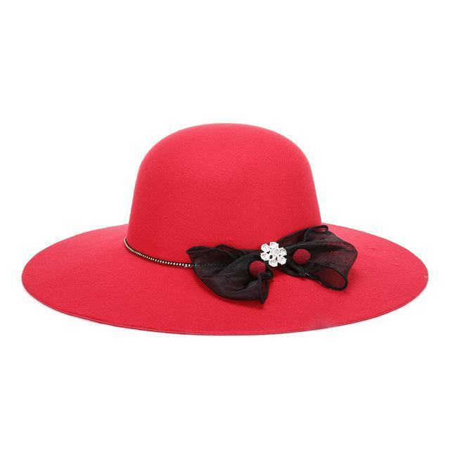 2021 ربيع المرأة واسعة بريم الرامي فو الصوف فيدورا قبعة السيدات مرن الشمس كاب كلوش الكنيسة قبعة