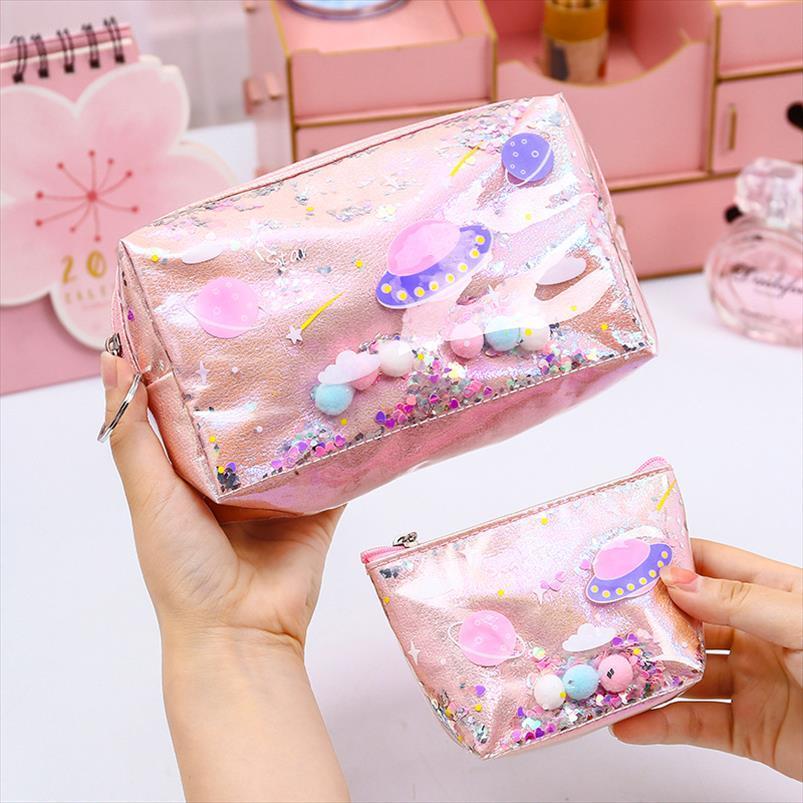 MIAYHOUSE Moda Belleza Láser Cosmética Femenino Almacenamiento Lavado Organizador Estuche de la caja de la bolsa de la bolsa de la bolsa Hacer la bolsa de las mujeres Xpgue