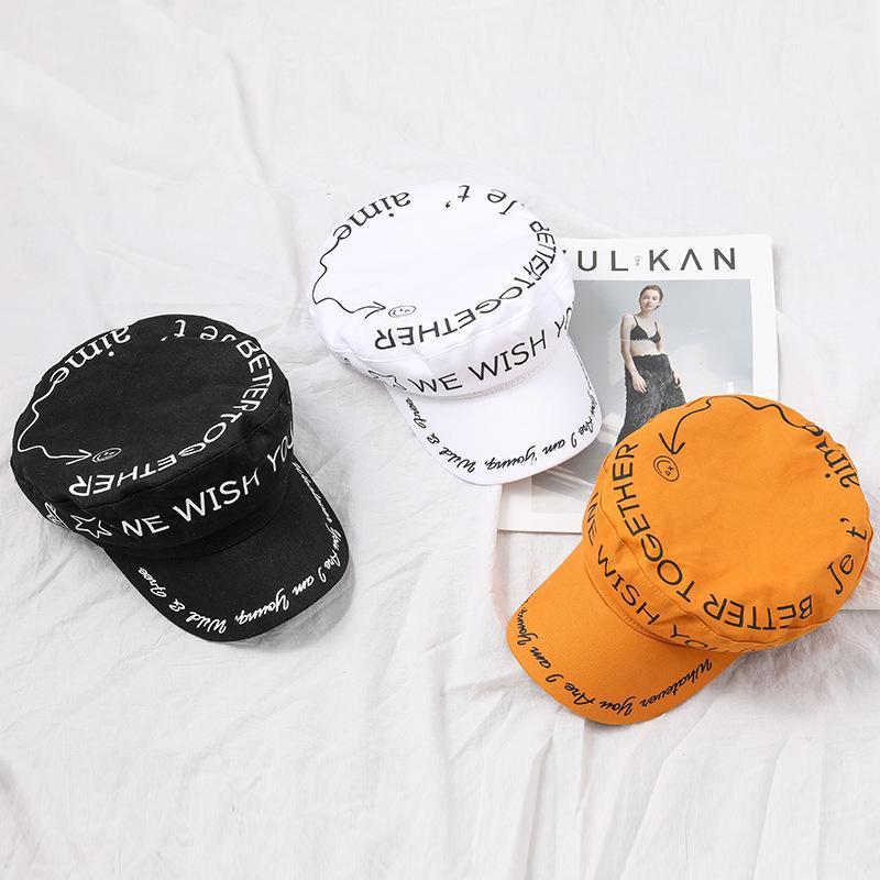 BERETS Mode Unisex Baumwolle Barett Hut Herbst Sailor Hüte Für Frauen Männer Wohnung Top Captain Cap Reise Kadett Navy Gorras