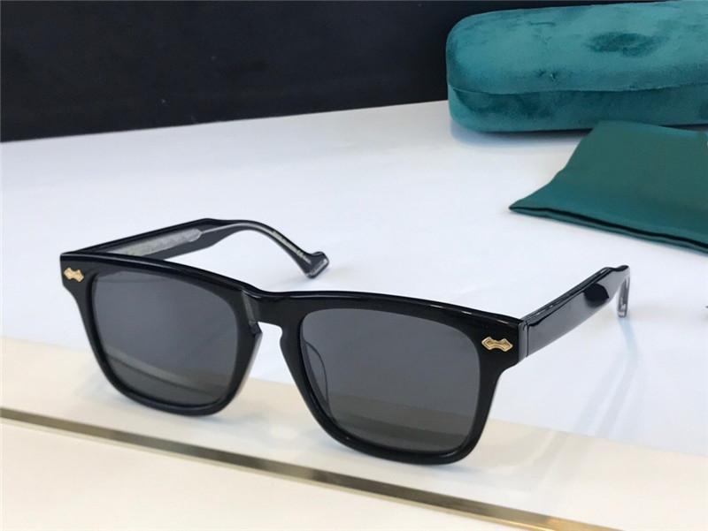 0735 رجل جديد والنساء النظارات الشمسية حجم الإطار مربع avant-garde شعبية الرجعية نمط ضوء اللون الزخرفية النظارات الشمسية شعبية نمط 0735S