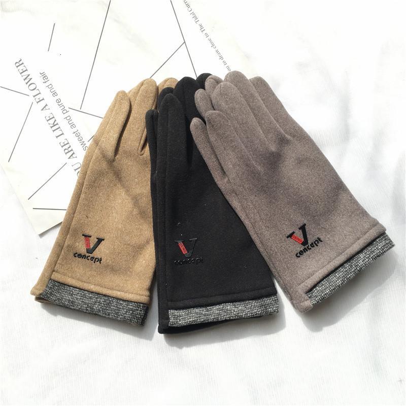 Carta coreana de otoño e invierno, coreano, enrojeción, envuelto, envuelto, pantallas de peluche, guantes de moda, guantes de moda.