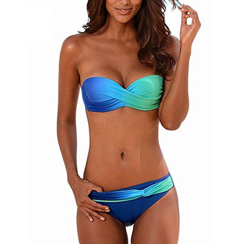 2020 Traje de baño de las mujeres Dos piezas Push Up Female Bikini Swimwear Swim Skill Separe Sexy Brasil Brasil Traje T200708