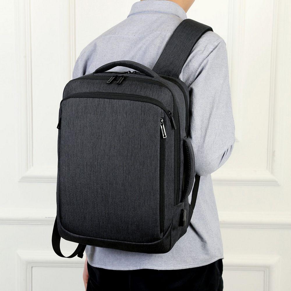 Litthing Laptop Backpack Men Male Backpacks Business Notebook Mochila Waterproof Back Pack USB Charging Bags Travel Bagpack Q1221