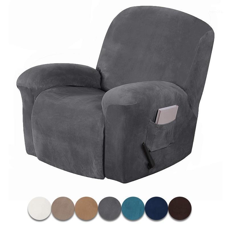 تمتد كرسي أريكة غطاء المخملية شاملة أريكة الأريكة الغلاف غير زلة الكراسي الأغلفة لغرفة المعيشة مقعد واحد 1