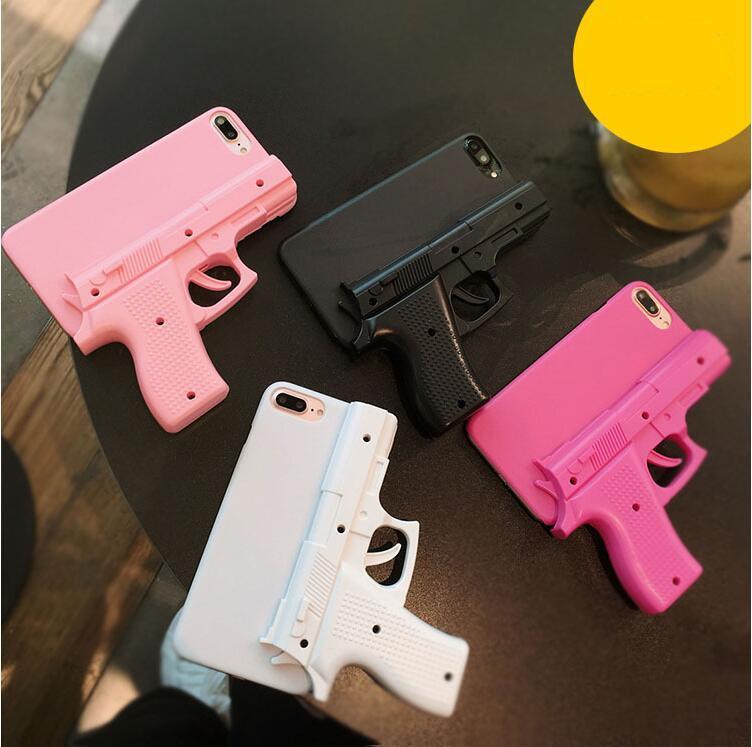 pistola Antirrobo forma 3D pistola DHL 20pcs tapa dura cubierta de la cáscara del teléfono para el iPhone 5S 6S 6 7 8 Plus X XS XR MAX