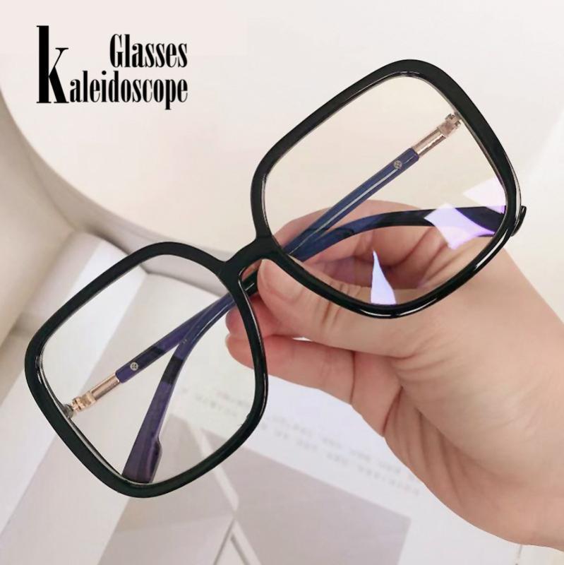 إطارات النظارات للرجال للنساء الأزرق ضوء حظر نظارات الرجعية فوق النظارات الحجم الإطار المضاد للأزرق ضوء النظارات 1