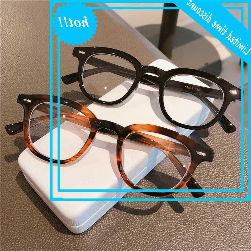 2020 yeni mavi ışık geçirmez gözlük lensler, düz lens çerçeve, erkek ve kadın metal çerçeve miyopi için