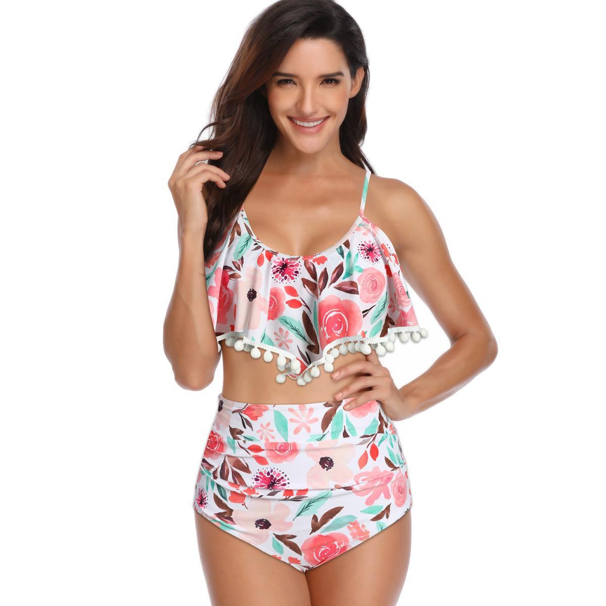 Trajes de baño Trajes de dos piezas Conjunto de bikini Traje de baño para mujeres Ropa de playa Ropa Ropa de alambre de verano gratis con ropa de baño LFHO