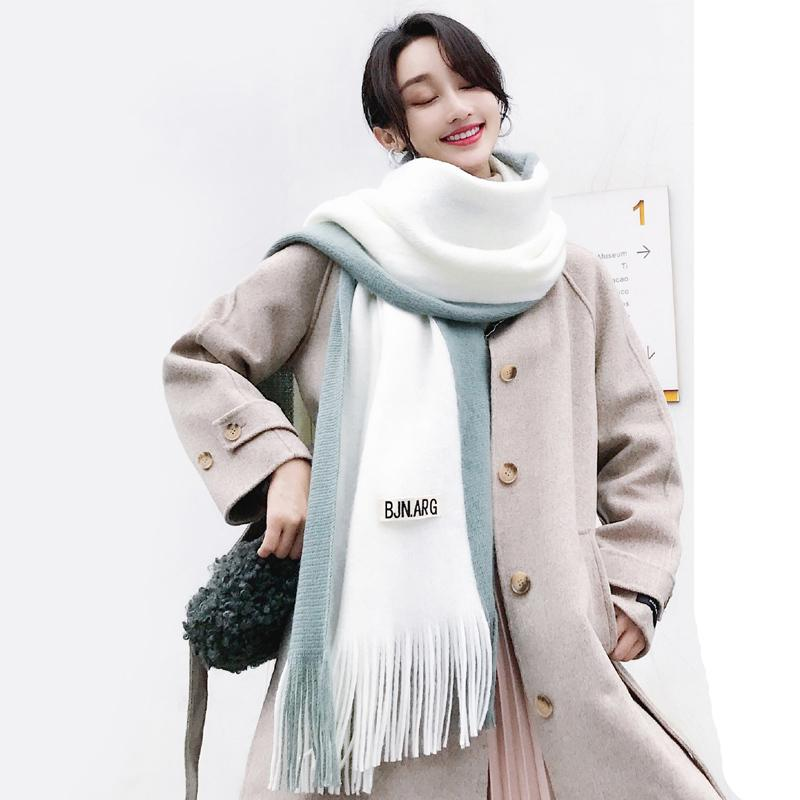 Scarves women winter ins cute soft girls lovers all kinds of warm keeping students' homestay style must have a bib