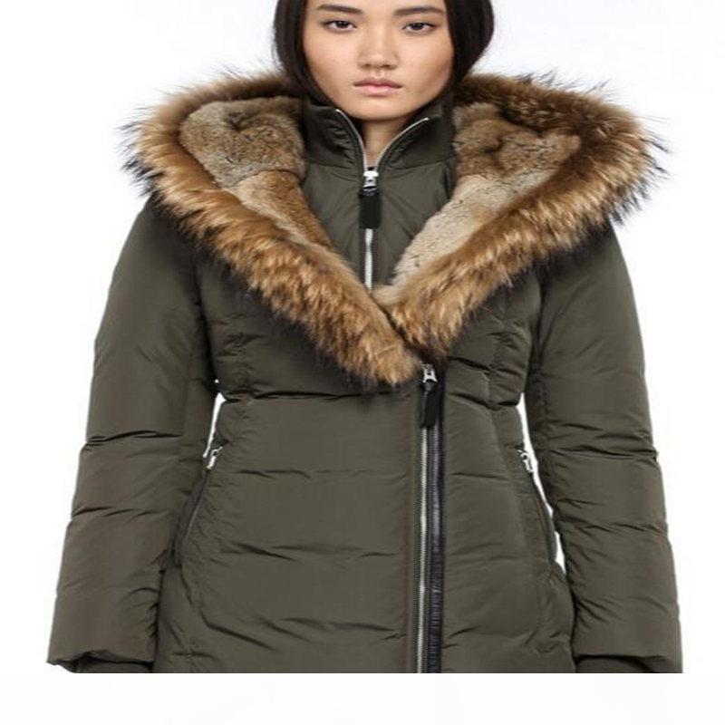 Top quality Famous Winter coat fur down parka women Chaquetas Canadian coat big fur hooded Canada winter coat fur down jacket Doudoune