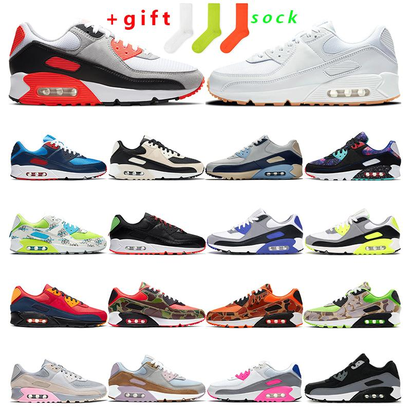 90 mens sneakers running shoes women 2020 infrared White Gum Volt green Camo orange Worldwide Hyper Grape bule sport trainer fashion outdoor