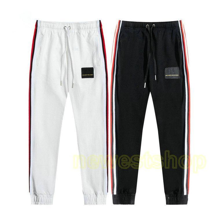 Diseñador Sweetpants Mens Bordado plano Insignia letras Rayas Patchwork Pantalones de carga famoso Casual Casual Joggers Cremallera Pantalones
