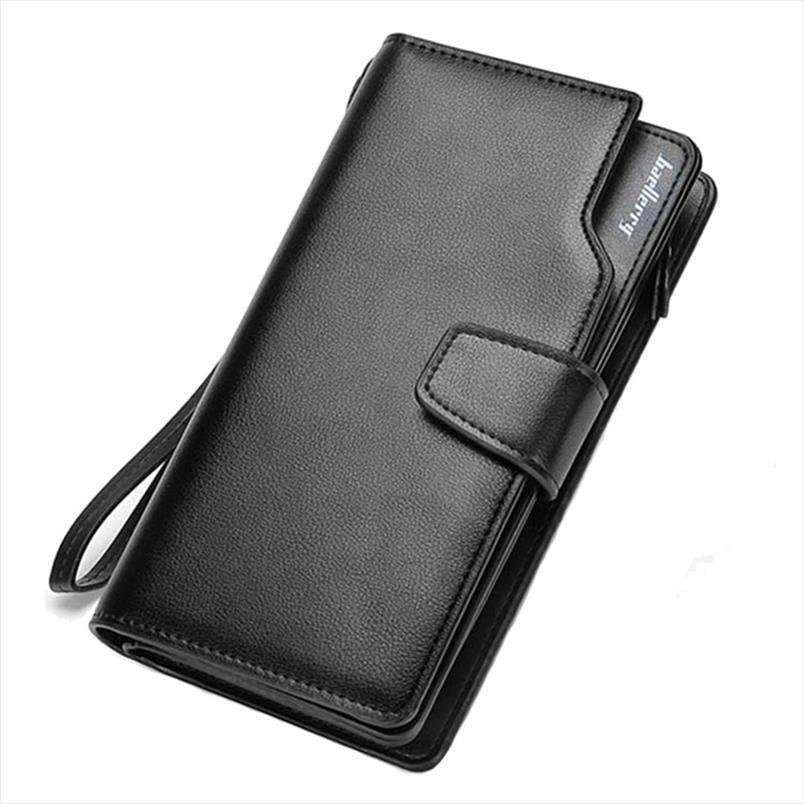 Business Baellerry Casual 3 Clutch Card Tasche Reißverschluss Multi Herren Brieftasche Telefon Brieftasche Geldbörsen Portfolio Geldbörse Münze Bit Falten Neue Fckuh