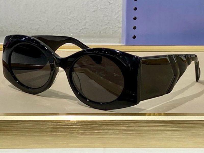 0810 Moda Güneş Gözlüğü ile UV Koruma Erkekler ve Kadınlar Için Vintage Oval Çerçeve Popüler En Kaliteli Case Klasik Güneş Gözlüğü Ile Gel