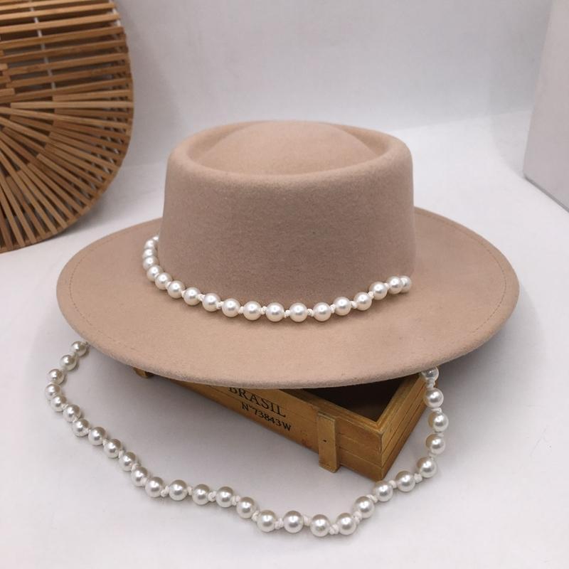 Fedora pequeñas mujeres de cima plana dulce eólicos en Europa y los británicos marea sombrero de fiesta que restaura maneras antiguas de lana 201013