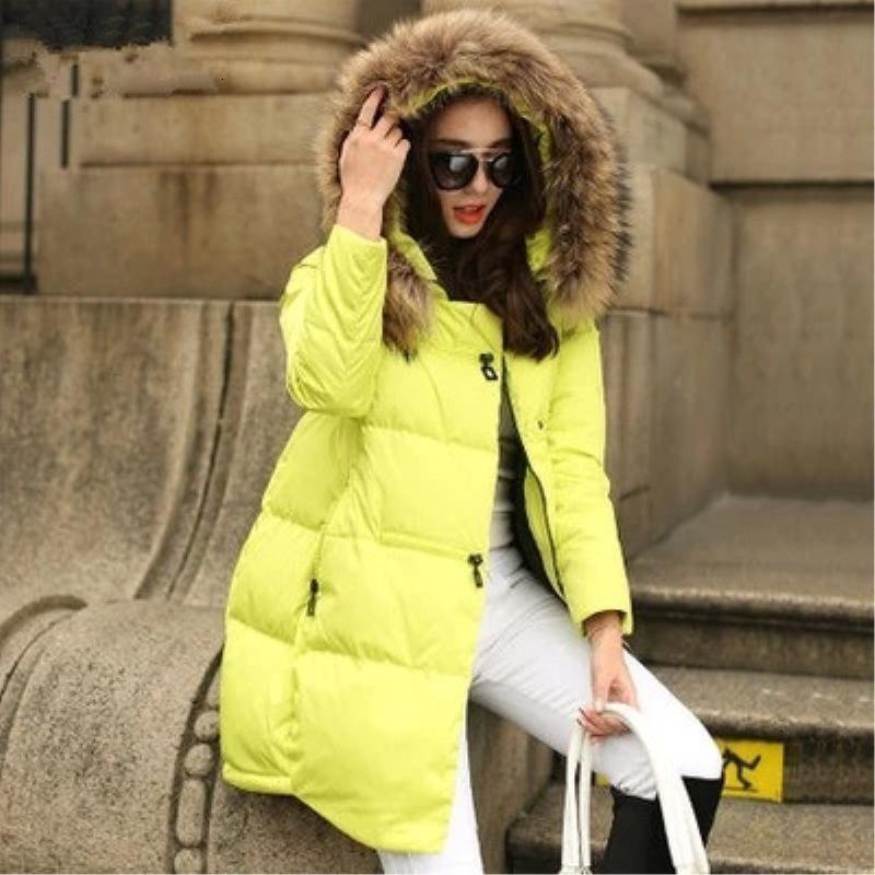 Mantel mit Kapuze Frauen Parkas 2020 neuer Frauen Jacke Pelz-Kragen-Oberbekleidung Female Plus Size Wintermäntel 5xl