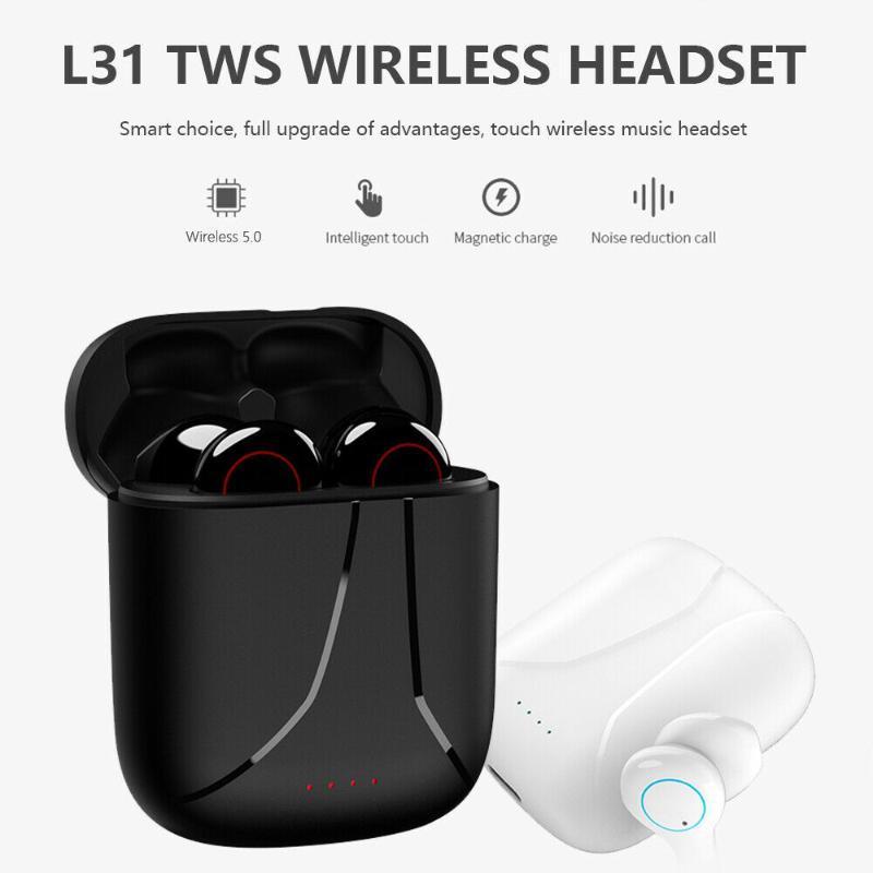 TWS L21 Wireless Headset Bluetooth Earphones Waterproof Music Headphones Sports Earbuds Business Headset Work on all Smartphones