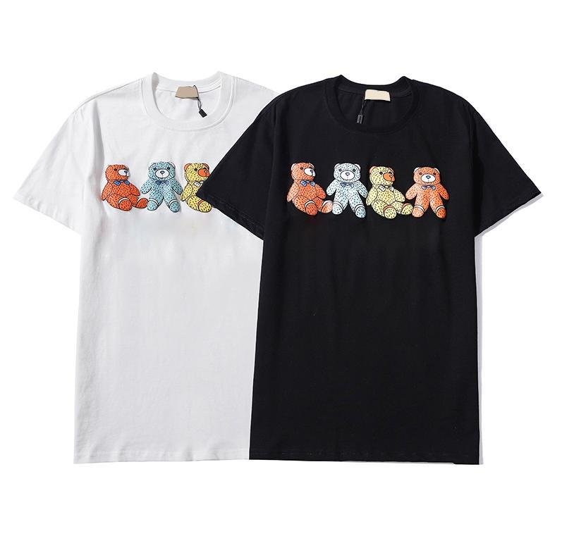 Erkekler Siyah Beyaz T Shirt Nedensel Erkek Tişörtleri Moda Baskı O Boyun Kısa Kollu Hip Hop Streetwear T-Shirt Y5957