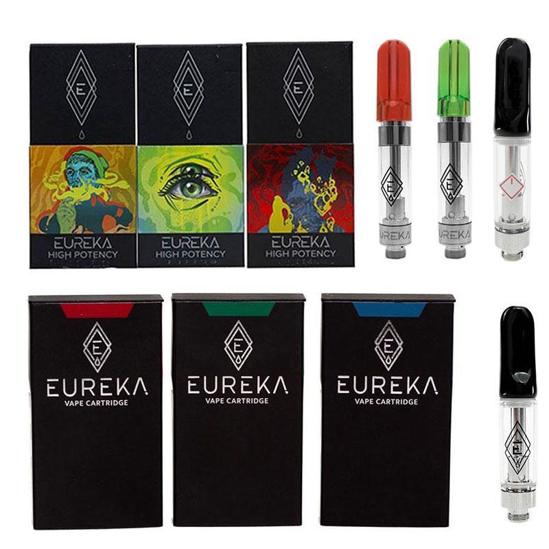 Cartouches EUREKA Emballage pour enfants Package de la céramique de 0.8 ml Type de céramique Type d'atomiseur de bobine vides 510 Fil E Cigarettes Vape Tank