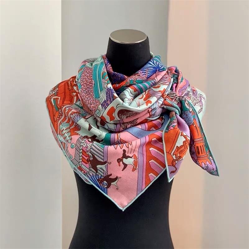 novo inverno leopardo chegada outono 70% caxemira 30% de seda lenço grande 135 * 135 centímetros quente moda xale envoltório para Y201007 mulheres senhora menina