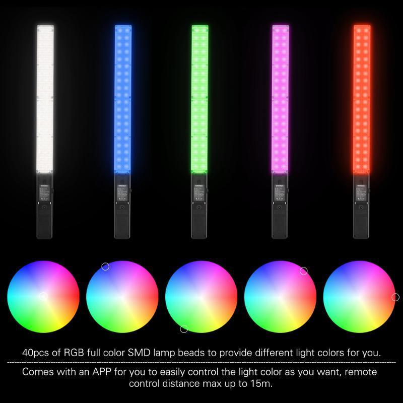 YONGNUO YN360 Pro Photographic Lighting Pro LED Video Lamps Studio Photo Selfie Light 5500K Temperature RGB Full Color Lights