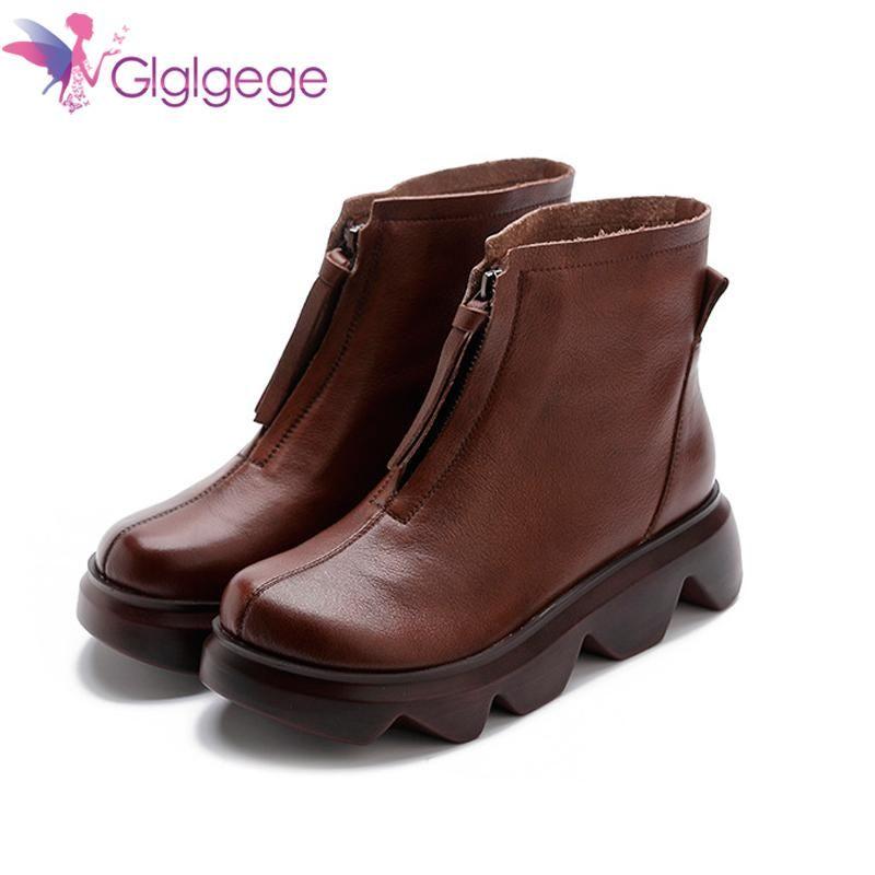 GlglGEGE Womens Pumpe Gothic Schuhe Knöchelstiefel Hohe Chunky Heels Platform Punk Creepers Schuhe Weibliche Mode Schnalle Bequeme