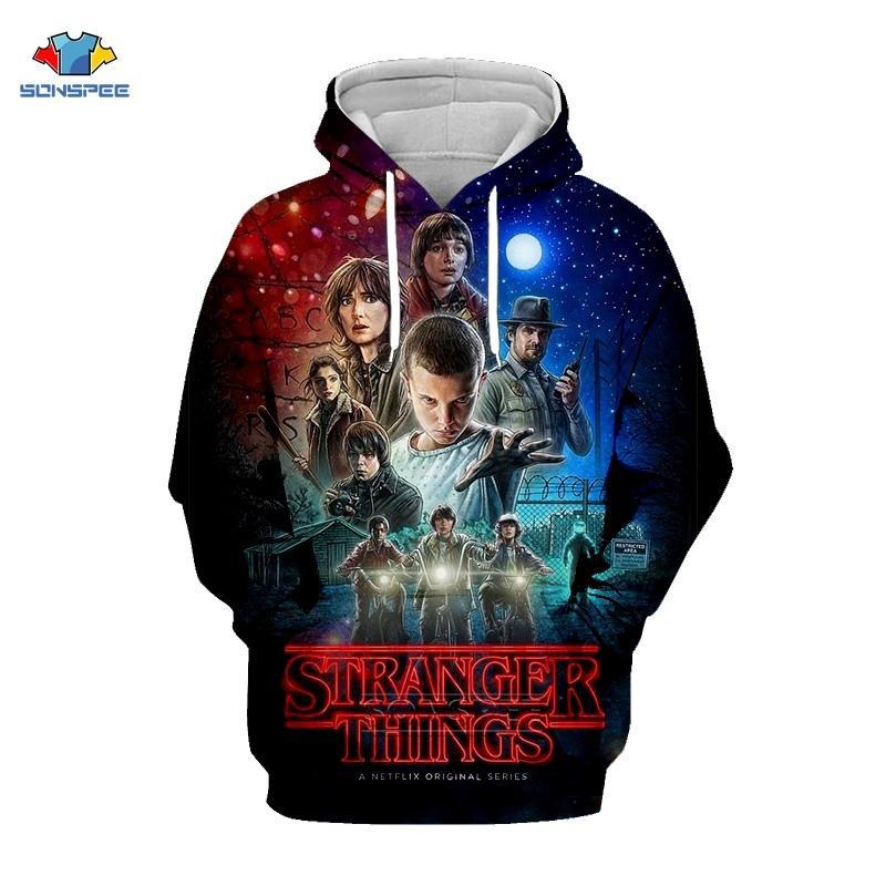 Sweat-shirt TV Show Hommes Vêtements d'impression 3D Stranger Things Hoodie Sudaderas Mode capuche Livraison gratuite Pull G24