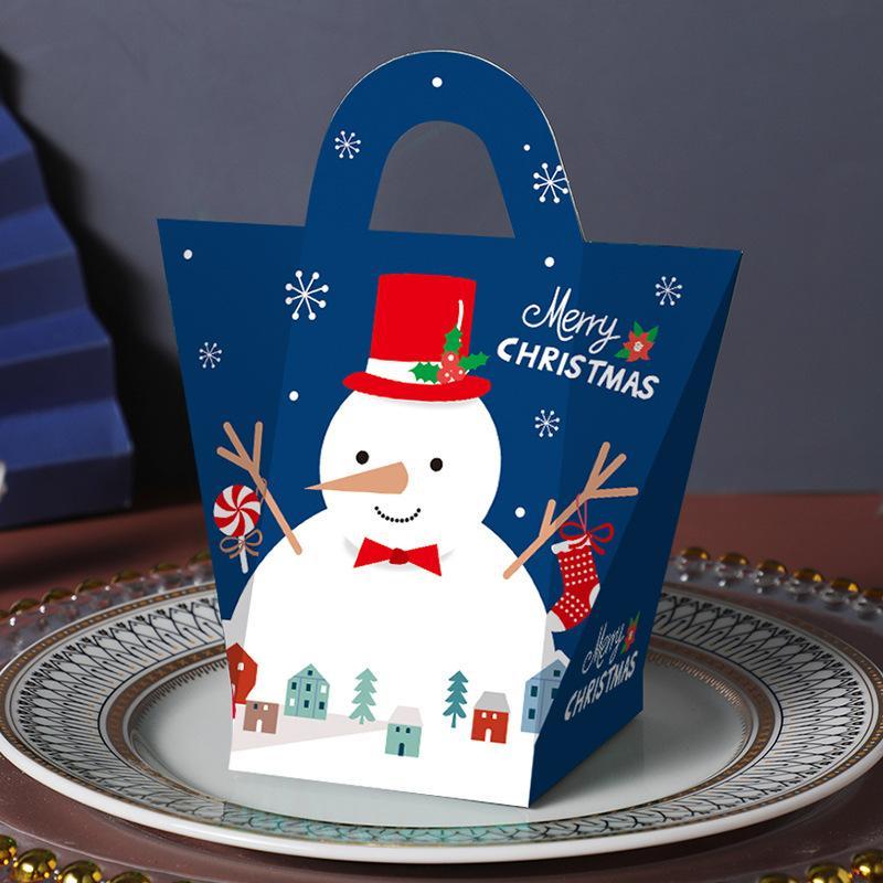 Presentes Presente Christmas Gift Box favor Embrulho Bag caixas de doces Xmas Party Supplies Presente de Natal Embalagem