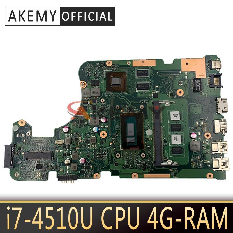 Akemy X555LD Laptop motherboard for ASUS X555LD X555LP X555L X555 Test onboard mainboard 4G-RAM -4510U