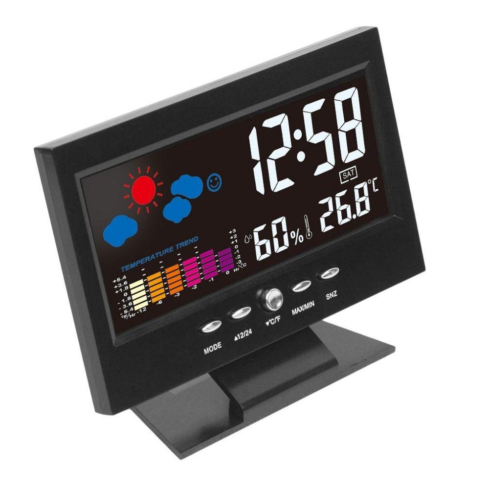 전자 디지털 LCD 온도 습도 모니터 클록 온도계 습도계 전자 실내 홈 일기 예보 시계