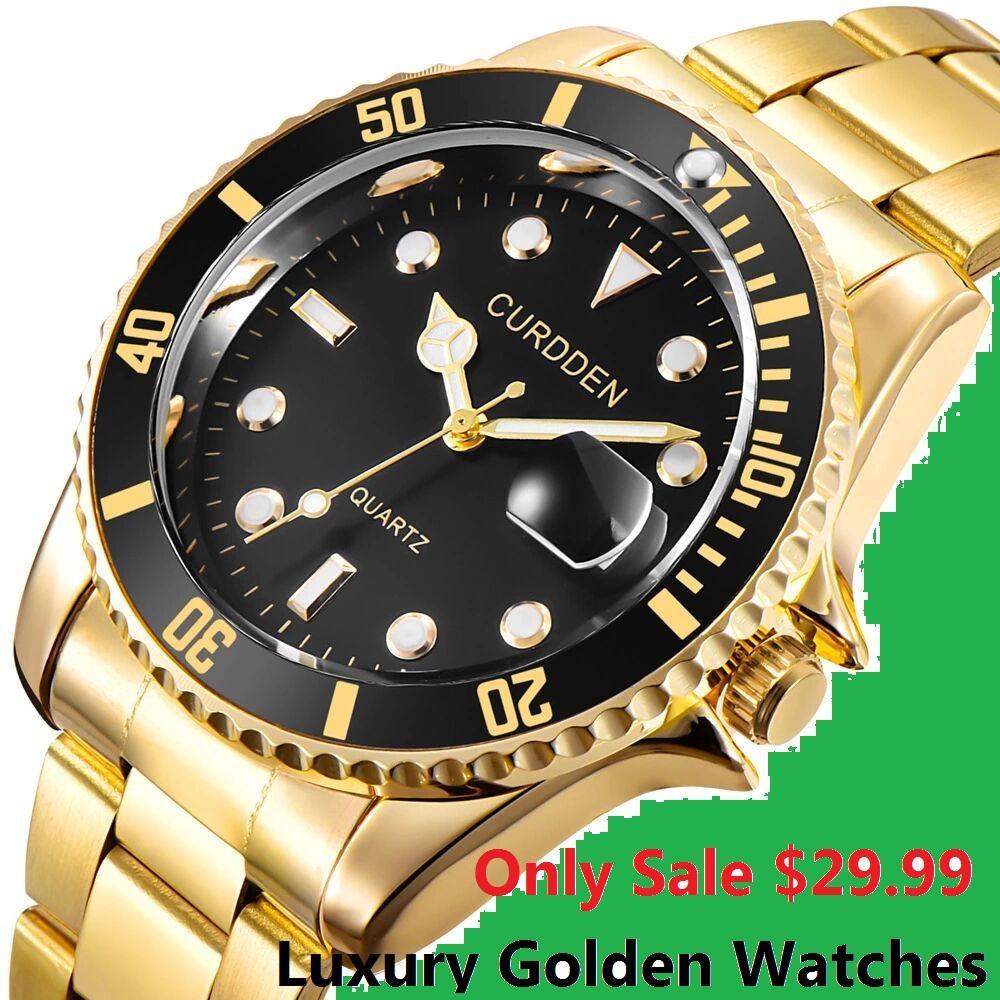 Acero inoxidable inteligente los hombres del reloj de cuarzo para hombre Classic relojes de primeras marcas comerciales Seguir Hombres Oro Masculino Relógio impermeable